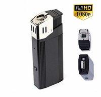 Wholesale Lighter Mini Dv - 32GB HD 1920x1080P MIni Camera Lighter Mini Camera Video Audio Recorder Camcorder DVR Web portable Security CamCorder Mini DV