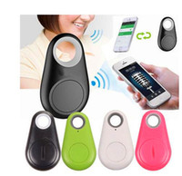 mini trackers para monedero al por mayor-Venta caliente Mini Smart Finder Bluetooth Tracer Pet Niño GPS Localizador Etiqueta Alarma Monedero Llave Tracker