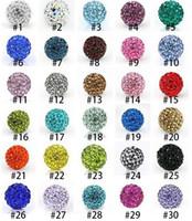 nouveaux bracelets à ballet disco achat en gros de-Nouveau Lâche Perles Cristal Boule De Perçage Shamballa Tchèque 10mm Mixte Couleur Micro Pave CZ Disco Boule Cristal Perle Bracelet Collier Perles WX-N28