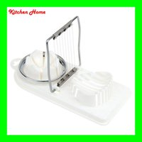 Wholesale egg slicer cutter resale online - 2 In Kitchen Egg Slicer Stainless Steel PP Multifunctional White Cooking Tools Cutter Sectione Cutter Mold