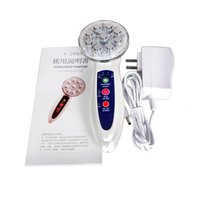 Wholesale Electroporation Device - 7Colors Ultrasonic Mesotherapy Device Beauty Equipment IPL RF Electroporation Instrument Home RF Skin Rejuvenation Face-lift