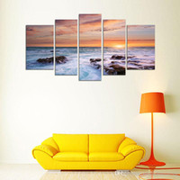 Peintures Impressionnistes Décoratives Pas Cher-5 Picture CombinModern Decorative Art Wall Paintings Impression sur toile Impressionniste Paysage Pictures Combinaison pour le salon et le bureau