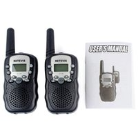 Wholesale Two Way Radios For Kids - 2016 A pair Mini Walkie Talkie Kids Radio Retevis RT-388 0.5W UHF462-467MHz US Frequency Portable For Children Two Way Radio A7027 free dhl