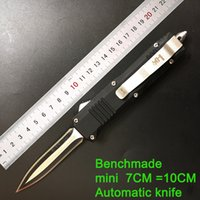 Wholesale Mini N - High quality ! outdoor tactical portable mini knife telescopic spring automatic knife Benchmade C07 HK N E anti-body tool