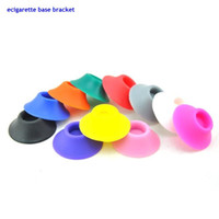 Wholesale Ego Holder Dhl - 100pc lot USA Hottest Sales ecigarette base bracket ecig holders Silicone Sucker for ego atomizer battery rechargeable battery Fast DHL