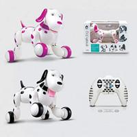Wholesale Black Dog Machine - Retail Wholesale Intelligent Remote Control Machine Dog 2.4G Programmable Electric Toy Dog Multi - functional Ben Stupid Dog