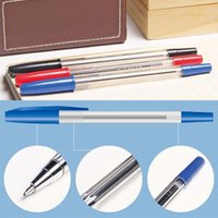 Wholesale Promotional Business Pens - Retail Wholesale 50pcs lot Classic Ballpoint Pen Writing Pens Signing Pen Business Office Accessories Promotional Pens Material Escolar