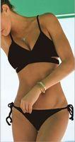 Wholesale Hot Bandage Wholesale - Black wrap bikini top Cross bandage swimwear hot sell bathing suits European style