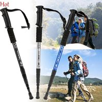 Wholesale Ultra light Adjustable Trekking Poles Telescopic Aluminum Alloy Hiking Walking Stick Retractable Silver Trekking Pole Sessions SV118555