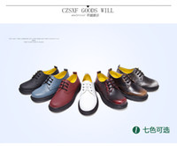 Wholesale Leather Shoes Bulk - 2016 British style leather shoes rub color Martin College Wind women students shoes shoes shoes bulk shoes Martin England