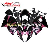 Full Fairings pour Suzuki GSXR1300 Hayabusa 97 98 99 05 06 07 1997 - 2007 ABS Injection Motorcycle Fairing Kit Carrosserie Cowling Black Pink