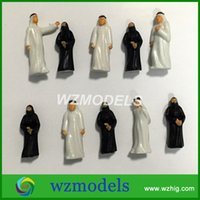 Wholesale Architectural Paintings - Free Shipping 100pcs Architectural scale model arab figures painted model arabic people figure