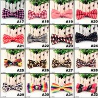 Wholesale Black White Dot Tie - High-Grade Men's Fashion Tuxedo Classic Polka Dot Stripes Print Bowtie Wedding Party Bow tie Red Black White Green Bow Tie 90