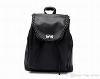 Wholesale Lace Designer Backpacks - Fashion Backpack Men Women Leather Bags Brand Designer Back Packs Bag Embroidered Backpacks Ladies Bags Cheap Sale