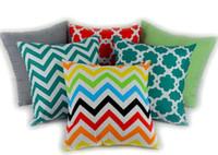 Wholesale Chevron Cushions - Cushion case Chevron wave Printed Cushion Cases fashion Mediterranean style Pillow Covers Home Textiles Décor Decorative Pillow party gift