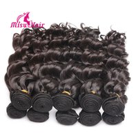 Wholesale Healthy Natural Hair - 7A GradeLoose Curl Human Hair Weaves with Exquisite Top Weft Dyeable Unprocessed Human Hair Healthy Malaysian Hair 4pcs lot