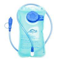 ingrosso zaino della vescica di idratazione-1.5L TPU Water Bag Camping Bicicletta Ciclismo Arrampicata Escursionismo Sport all'aria aperta Bocca Sacchetto d'acqua della vescica Zaino Borsa idratazione blu