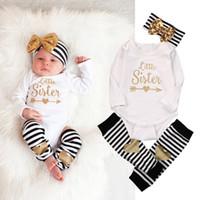 bebek çorabı şapka toptan satış-Yeni bebek uzun suit sonbaharında bebek kız sonbahar kıyafetler bebek kız ilkbahar sonbahar giyim setleri bebek kız tulum + çorap + şapka