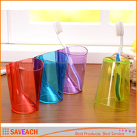 Creative Bathroom Transparent Candy Couleur Wash Gargle Cup Dent Mug Anti-échelle Innovative brosse à eau Coupe d'eau (6 couleurs)