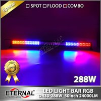 2 stücke Jeep fern RGB 288 Watt led-lichtleiste 50in off road fahren scheinwerfer ATV UTV powersports 4x4 buggy racing high power combo bar licht