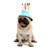 Wholesale Cake Design Supplies - Creative Dog Birthday Hat With Cake And Candles Design Pets Puppy Cap Cute Dog Hats Birthday Supplies Accessories Headwear DHL 0704120