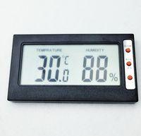 Wholesale meters temperature sensors - Mini portable Hygrometer Temperature tester Humidity Meter Thermometer large screen digital LCD display Celsius Fahrenheit conversion
