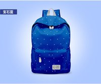 Wholesale Clear Vinyl Fabric Wholesale - Korean shoulder bag handbag computer bag College Wind casual canvas bag backpack schoolbag junior high tide