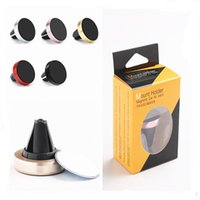 Wholesale silicone mobile phone car holder for sale – best Universal Metal Air Vent Magnetic Mobile Phone Holder For iPhone Samsung Magnet Car Phone Holder Aluminum Silicone Mount Holder Stand DHL