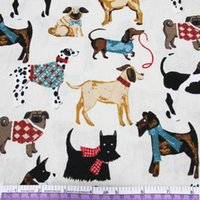Wholesale Textile Bedding Material - 45426 50*147CM*3 Various dogs printed cotton fabric for Tissue Kids Bedding textile for Sewing Tilda Doll, DIY handmade materials