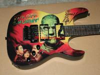 Wholesale Hammett Guitar - Free shipping best Christmas gifts Kirk Hammett Metallic KH2 M-II Mummy Karloff Tlmummy Electric Guitar