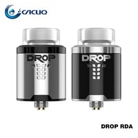 Wholesale large diameter glass - Authentic Digiflavor Drop rda Vape 24mm Diameter Vaporizer 4 Large Post Holes Tank with BF Squonk Pin e cigs vape
