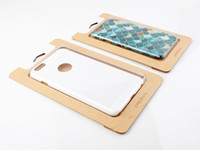 Wholesale Custom Rhinestone Phone Cases - 200pcs Wholesale Custom Logo Simple Kraft Paper With Transparent Plastic Packaging Box For Phone Case For iPhone 6s 6 plus