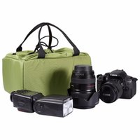 2 dimensions DSLR Partition Padded Camera Bag Insert Case Divider Imperméable intégré Insert Camera Bag