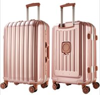 Wholesale 24 Aluminum Wheels - Fashion trolley suitcase, universal wheel, PC aluminum frame password lock, there is a cup rack in the boarding suitcase