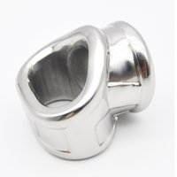 Wholesale Male Chastity Three Ring - Three Hole Stainless Stell Scrotal Binding Cock Ring Penis Ring Male Chastity Cage Penis Sleeve Sex Toys for Male B2-2-149