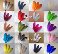 Wholesale natural dyed feather - Beautiful natural goose feather 15-20cm   6-8inches 500pcs Festival and party supplies > > celebration party supplies