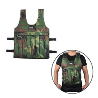 Wholesale Weight Vest Wholesale - SUTEN 20kg Camouflage Weighted Vest With Shoulder Pads Comfortable Weight Jacket Cloth Adjustable Sanda Boxing Sand Clothing (Empty) 2501048