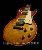 Wholesale Body Gate - 10S Custom Shop 1959 Billy Gibbons PEARLY GATES AGED Number 6 Electric Guitar