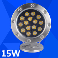 2PCS 15W Waterproof LED Underwater Fountain Lights DC24V RGB Fishing Docks IP68 Outdoor Led Marine Lamp lâmpadas subaquáticas da piscina