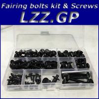 97 kit de carenado ninja zx9r al por mayor-Tornillos kit de tornillos de carenado para Kawasaki NINJA ZX9R 1994 1995 1996 1997 ZX 9R 94 95 96 97 Tornillos de carenado ZX-9R Plata negra