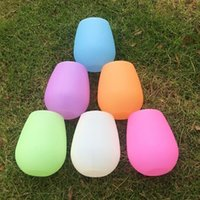 Wholesale Coloured Glass Bottles - Candy Colour Silicone Wine Bottle Mulit Function Anti Fall Portable Durable Dup Convenient And Quick Cups Hot Sale 4 5hy J