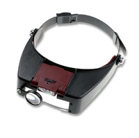 Wholesale Helmet Magnifying Glass - Specification Free shipping 1.5x 3x 6.5x 8x Helmet magnifying glass Illuminated magnifier with light for reading glasses Watch clock repai