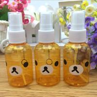 Wholesale Perfume Bear - New 50ml Cartoon Rilakkuma Bear Skin Replenishment Perfume Poetable Spray Bottle Makeup Bottle Perfume Bottle Mini Portable Atomizer