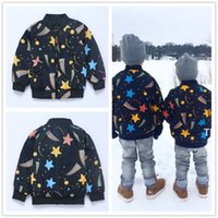 Wholesale Stylish Boys Clothes - Autumn Winter Boys Jacket Mini Rodini Printed Star Stripe 2016 INS Hot Sale Kid Clothes Cotton Outwear Coat Long Sleeves Stylish