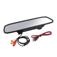 "Wholesale Car Roof Lcd Screen - 4.3"" LCD Screen Car Rear View Backup Mirror Monitor TFT LCD Monitor"