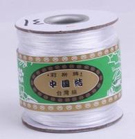 белая нейлоновая нить оптовых-Оптовая 160M / 170yards / lot balck красный белый многоцветный китайский узел строка нейлон шнур веревки для Shamballa браслет DIY