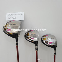 Wholesale Wood Head Putter - Top Quality Honma Golf Complete Set Full Honma Golf Clubs Driver+Fairway Woods+Irons+Putter + Head Cover Righ Hand Golf Clubs Free Shipping