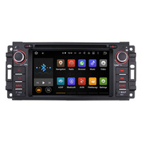 Wholesale Dvd Navigation Dash Radio - Joyous Android Car Radio Quad Core 800*480 Android 5.1 Car DVD Player GPS Navigation Audio Stereo Radio For JEEP Chrysler Dodge