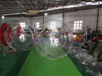 Wholesale Water Ball Rollers - Transparent PVC inflatable toys manufacturers selling 2 m on foot Water walking ball Water roller blower