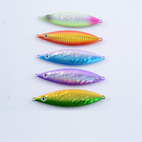 Wholesale slow jig lures online - 5 Colors Metal Jigs Fishing Lure Combo or d Eyes Slow Jigging Double Strike and Lifelike Hard Baits Fishing Tackle